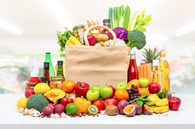 Verduras y frutas.