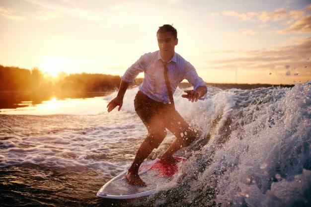 Surfista emprendedor.