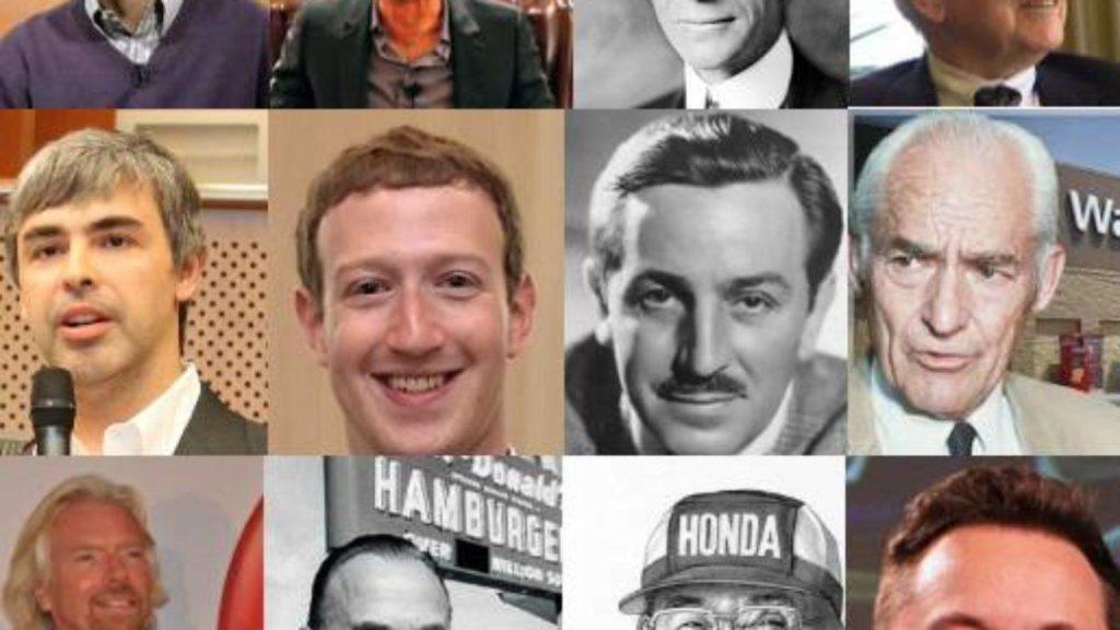 Emprendedores exitosos.