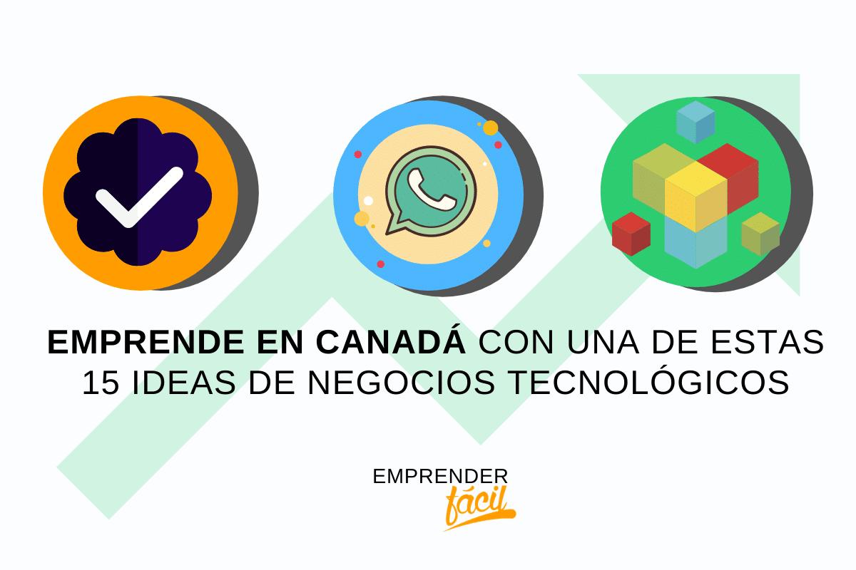 15 ideas de negocios tecnológicos para emprender en Canadá
