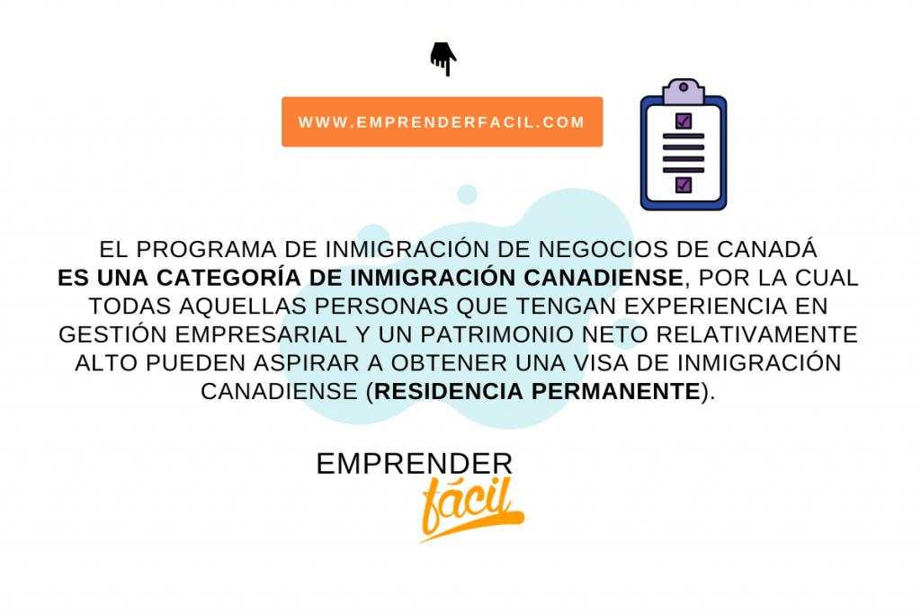 Programa de inmigración de negocios de Canadá