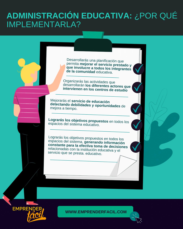 La administración educativa te ayuda a mejorar los procesos de los centros de estudio
