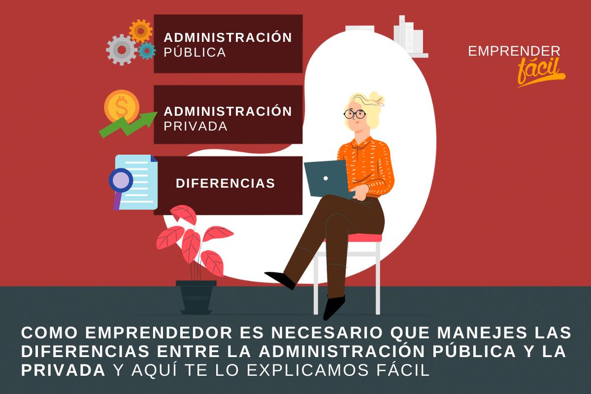 Es importante que conozcas las diferencias entre la administración pública y privada y su funcionamiento en tu empresa