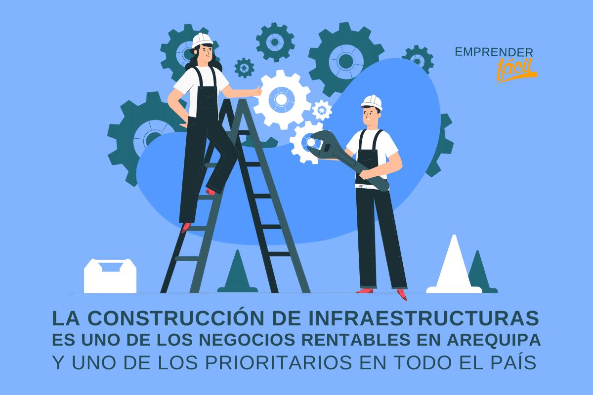 La construcción de infraestructuras es uno de los negocios rentables en Arequipa y uno de los prioritarios en todo el país.