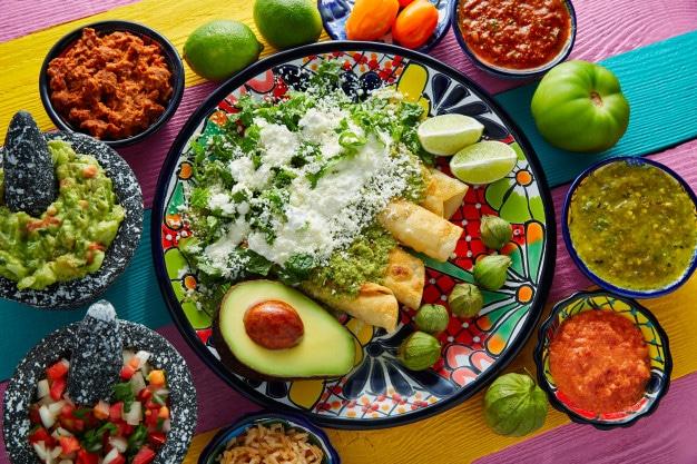 Enchiladas, comida mexicana
