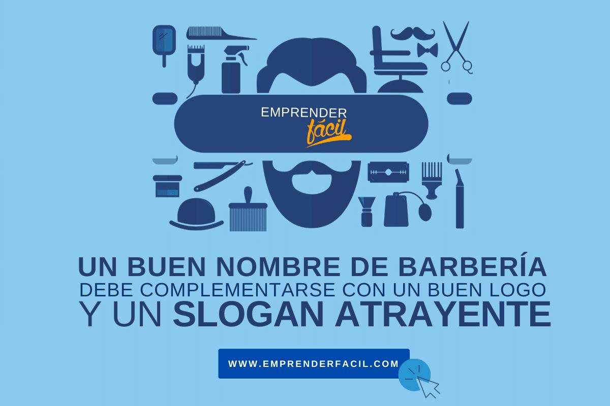 Lo ideal es que el nombre de tu barbería se complemente con un espectacular logo y, si lo consideras necesario, un slogan llamativo.