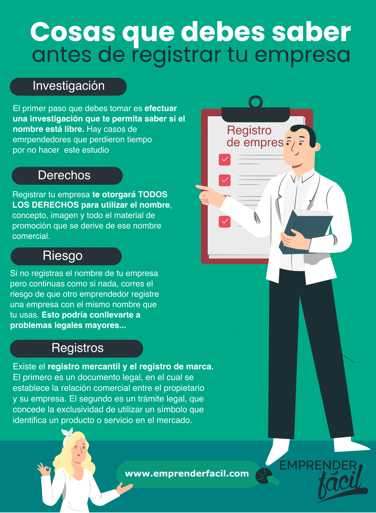 Cosas que debes saber antes de registrar tu empresa