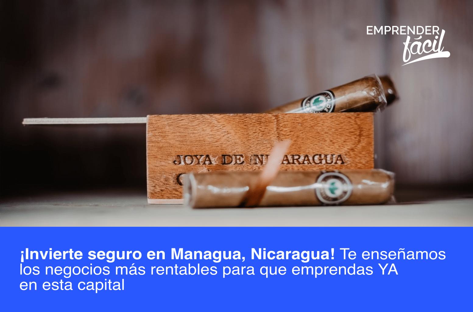 Negocios rentables en Managua, Nicaragua ¡Invierte Seguro!