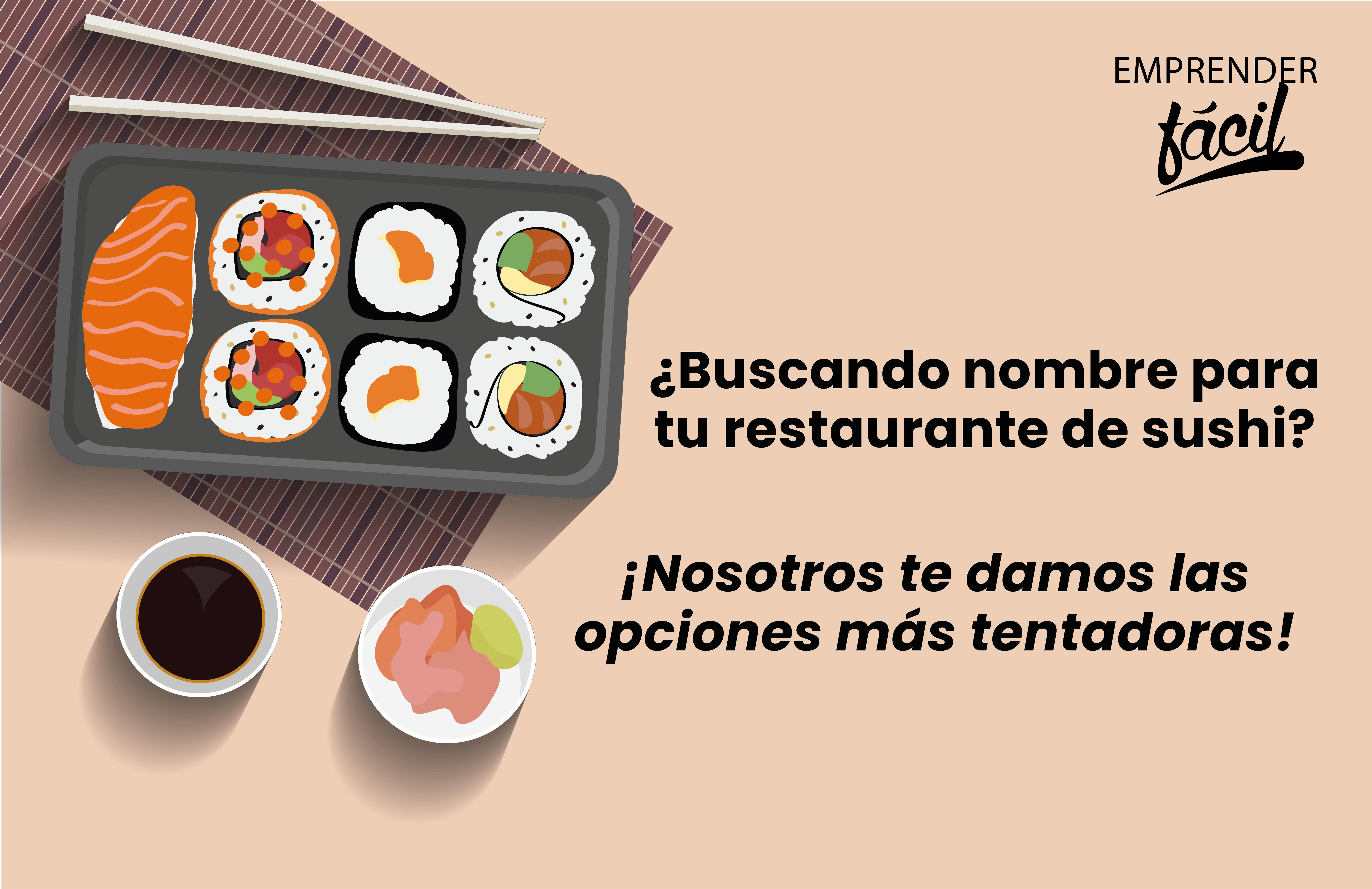 Nombres para Restaurantes de Sushi. Los más exclusivos