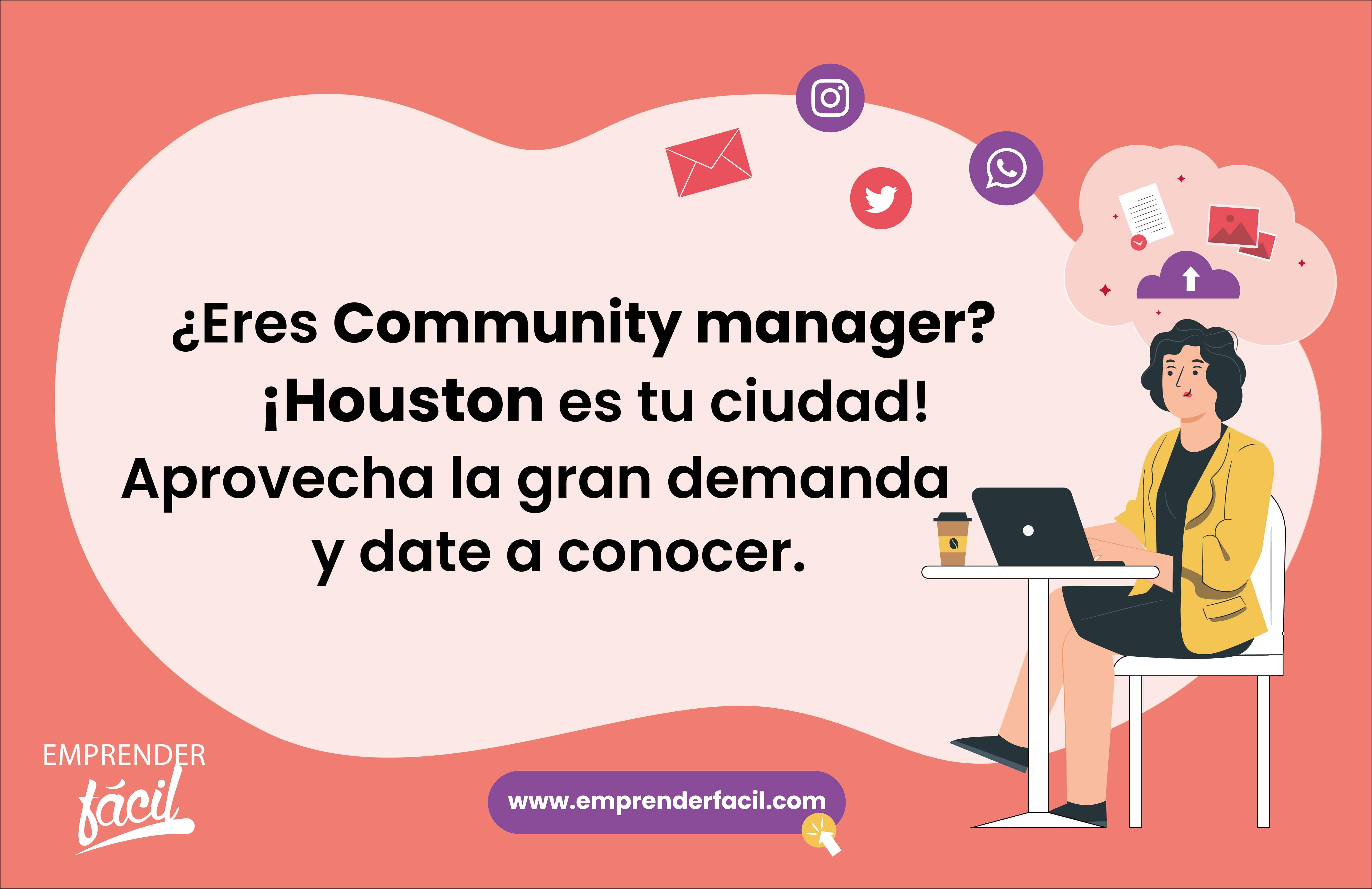 Se community manager y gestiona las redes sociales de tus clientes. Sin duda uno de los negocios rentables en Houston.