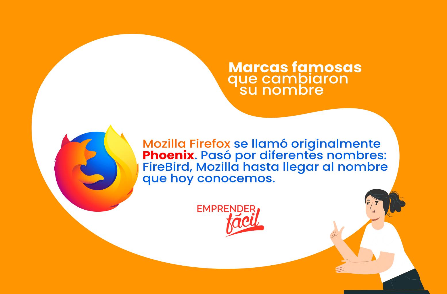 Marcas famosas que cambiaron su nombre caso Firefox