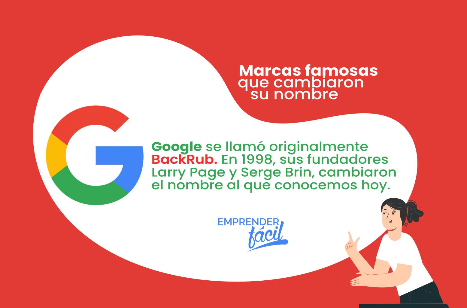 Marcas famosas que cambiaron su nombre caso Google