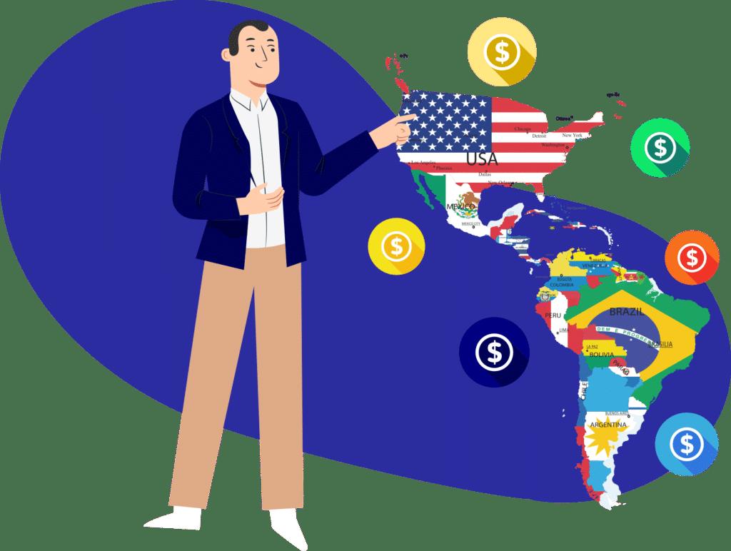 Negocios rentables por países en América