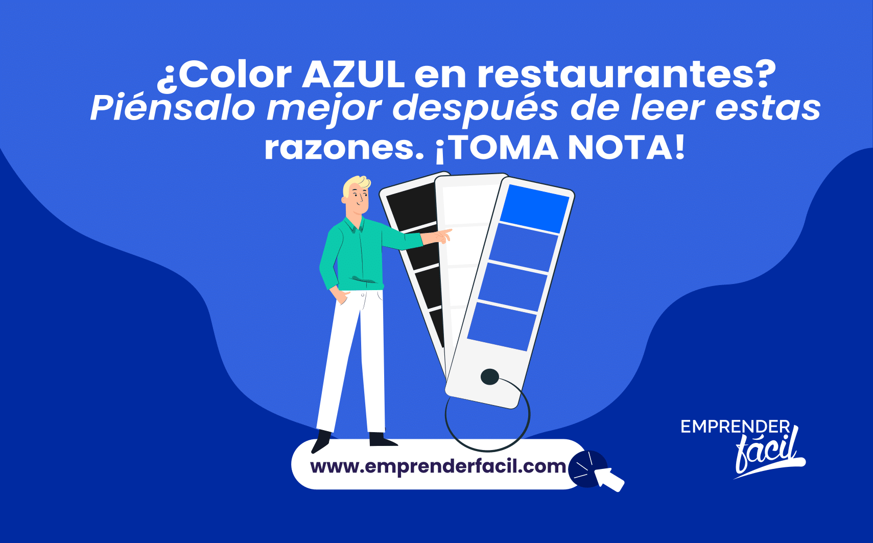 El color azul en restaurantes.