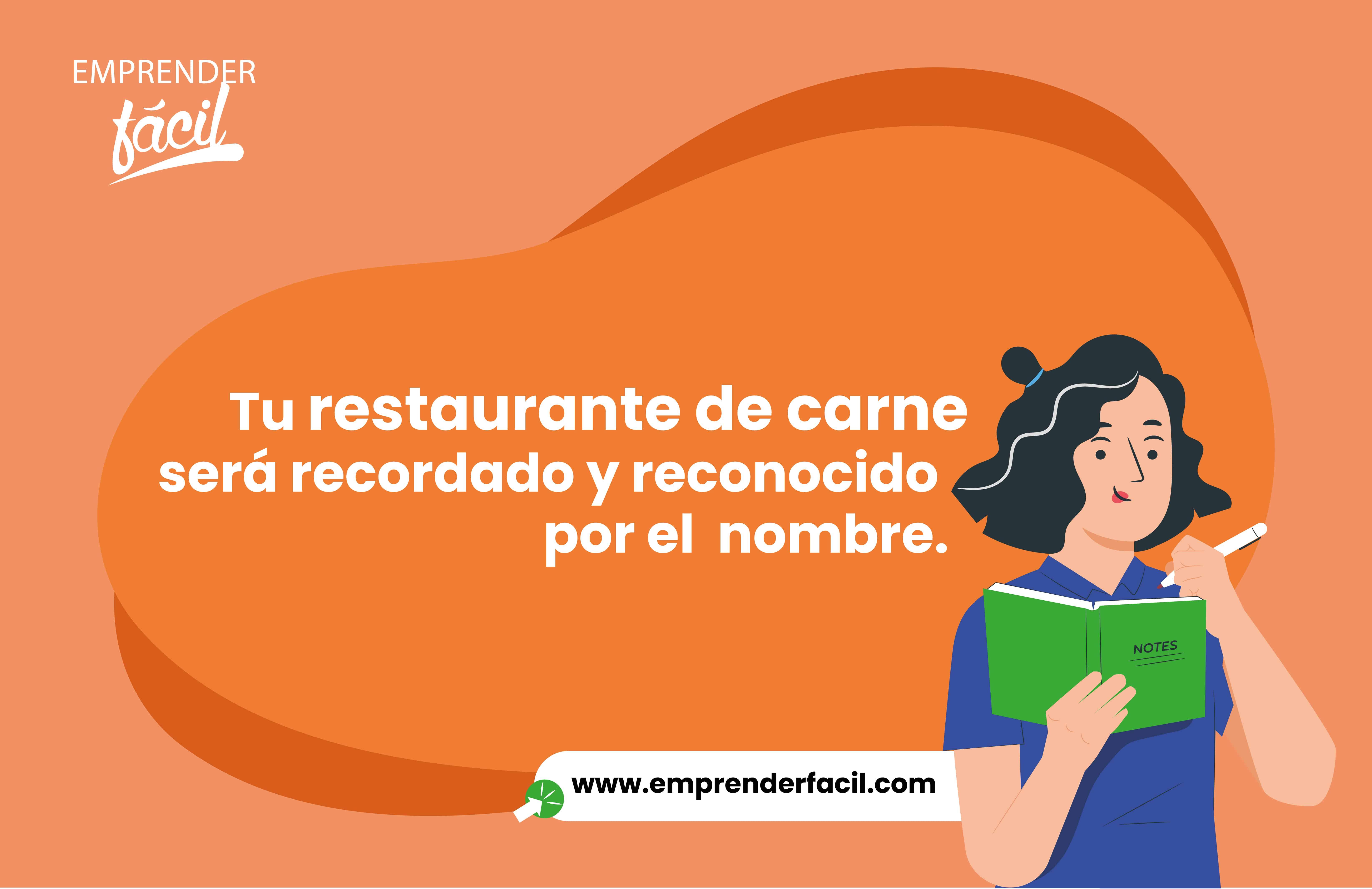 Tu restaurante será recordado y reconocido por el Nombre.