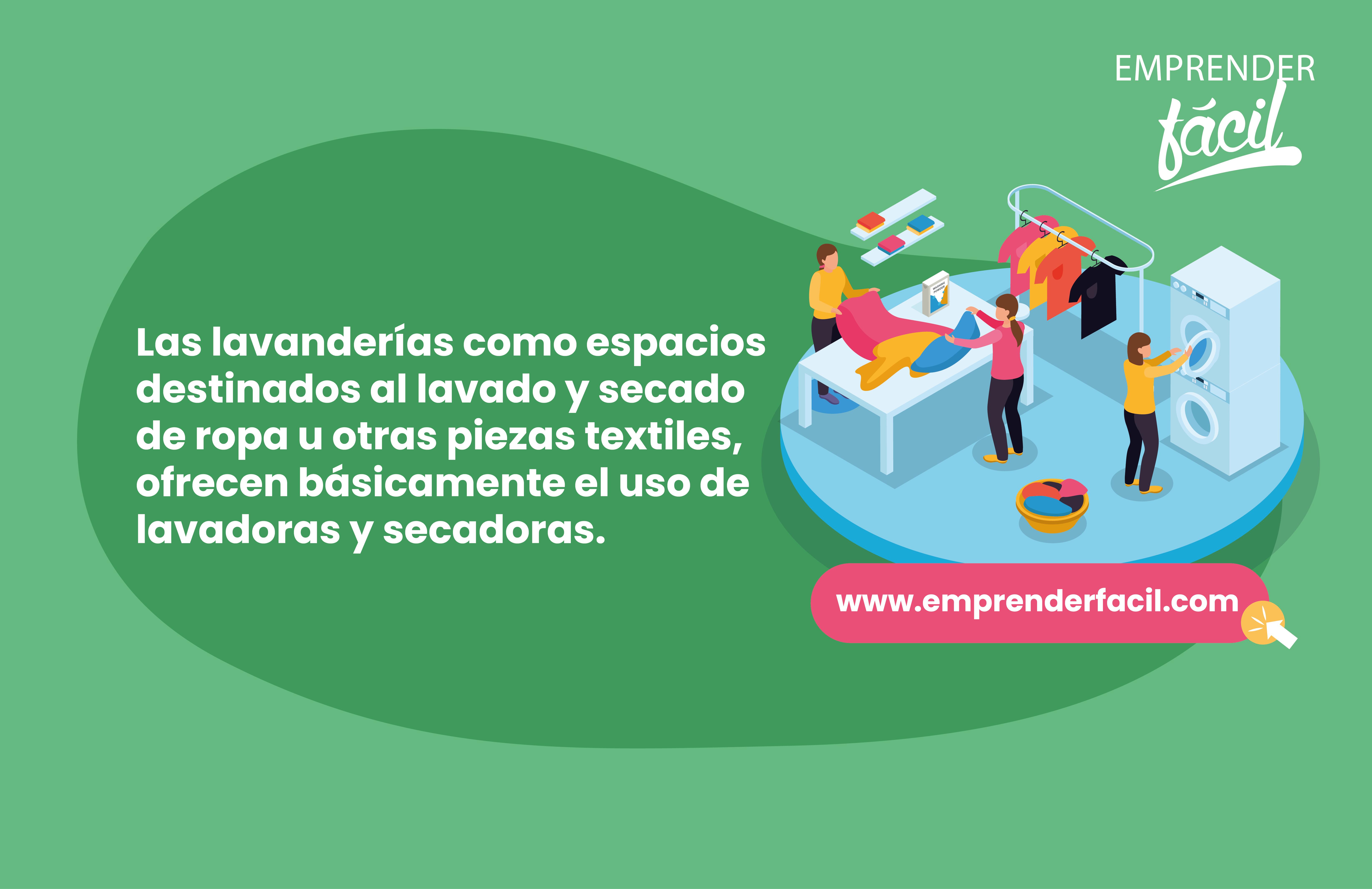 Las lavanderías ofrecen servicios muy completos.