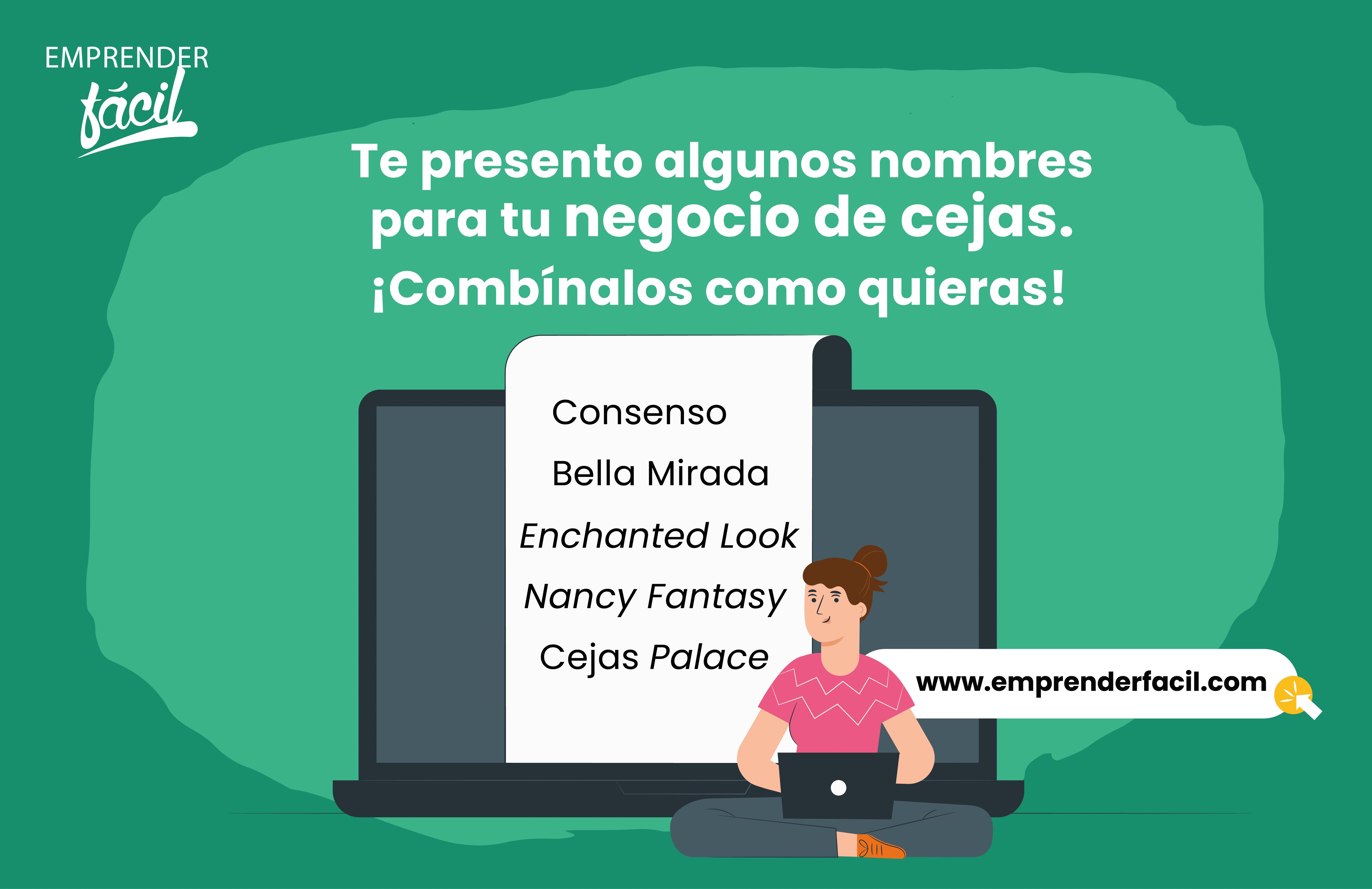 Ejemplos de Nombres para Negocios de Cejas.