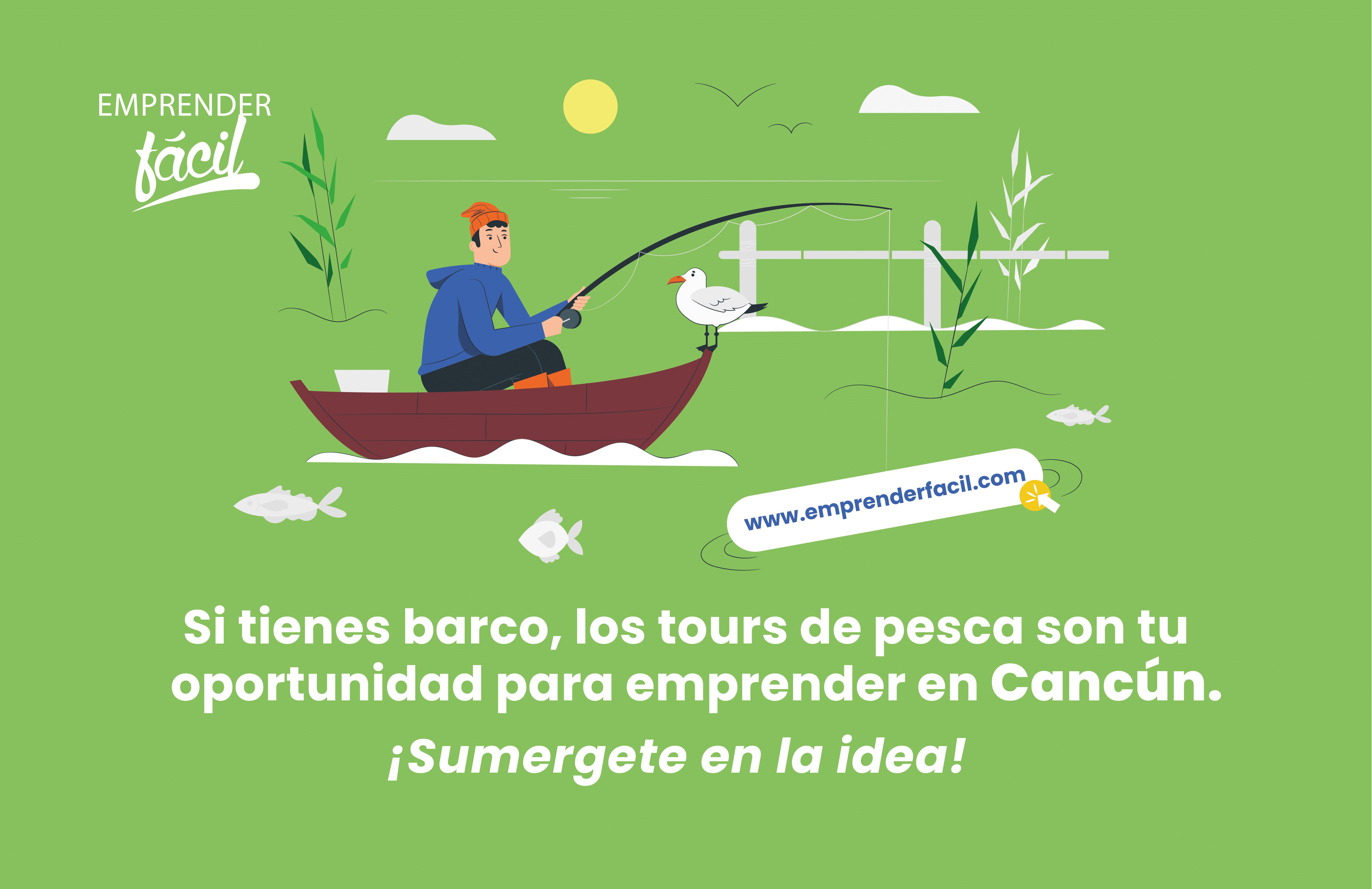 Ofrece tours de pesca, uno de los negocios rentables en Cancún