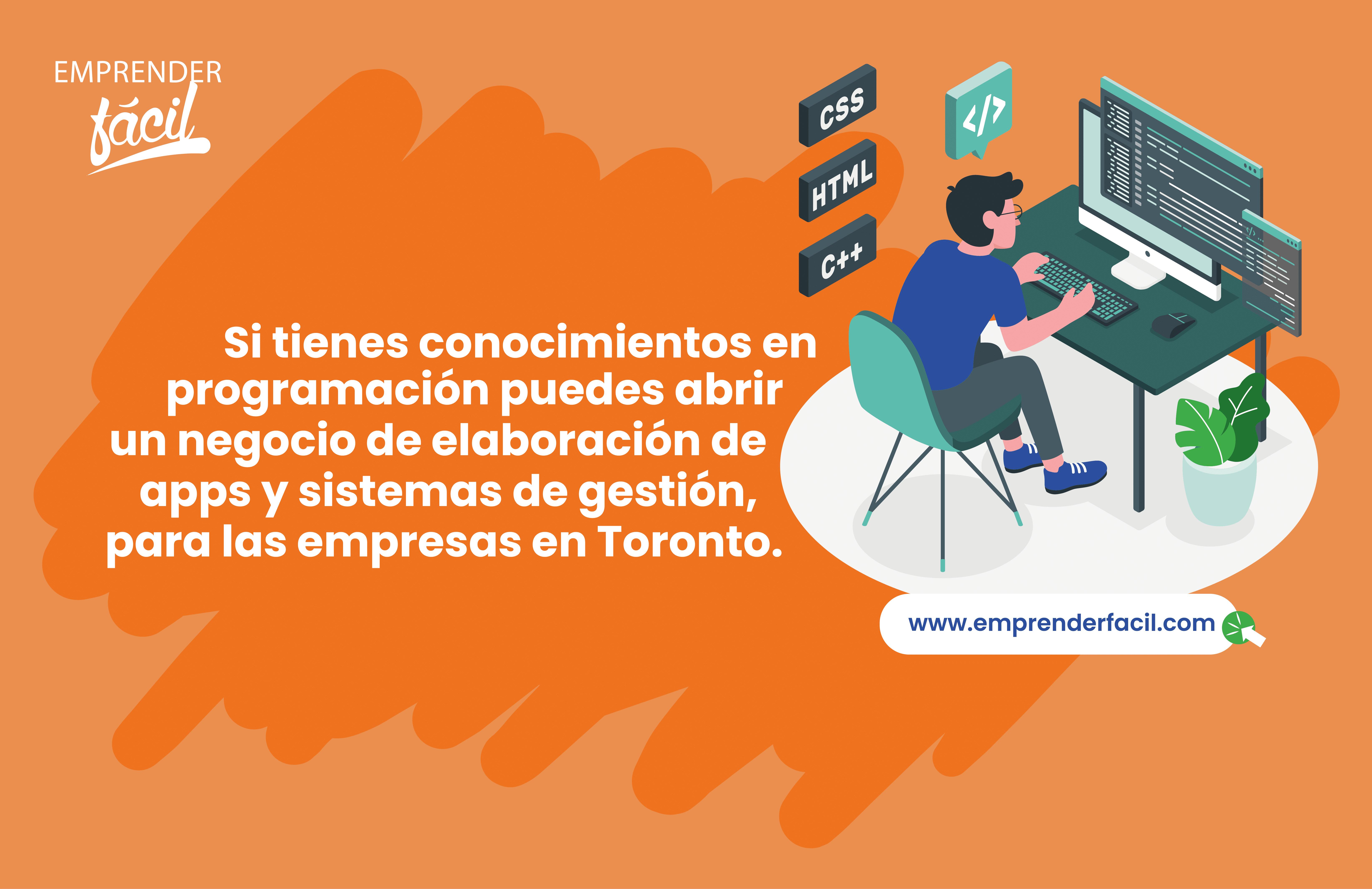 Los emprendimientos en el área  de tecnología, se consideran negocios rentables en Toronto.