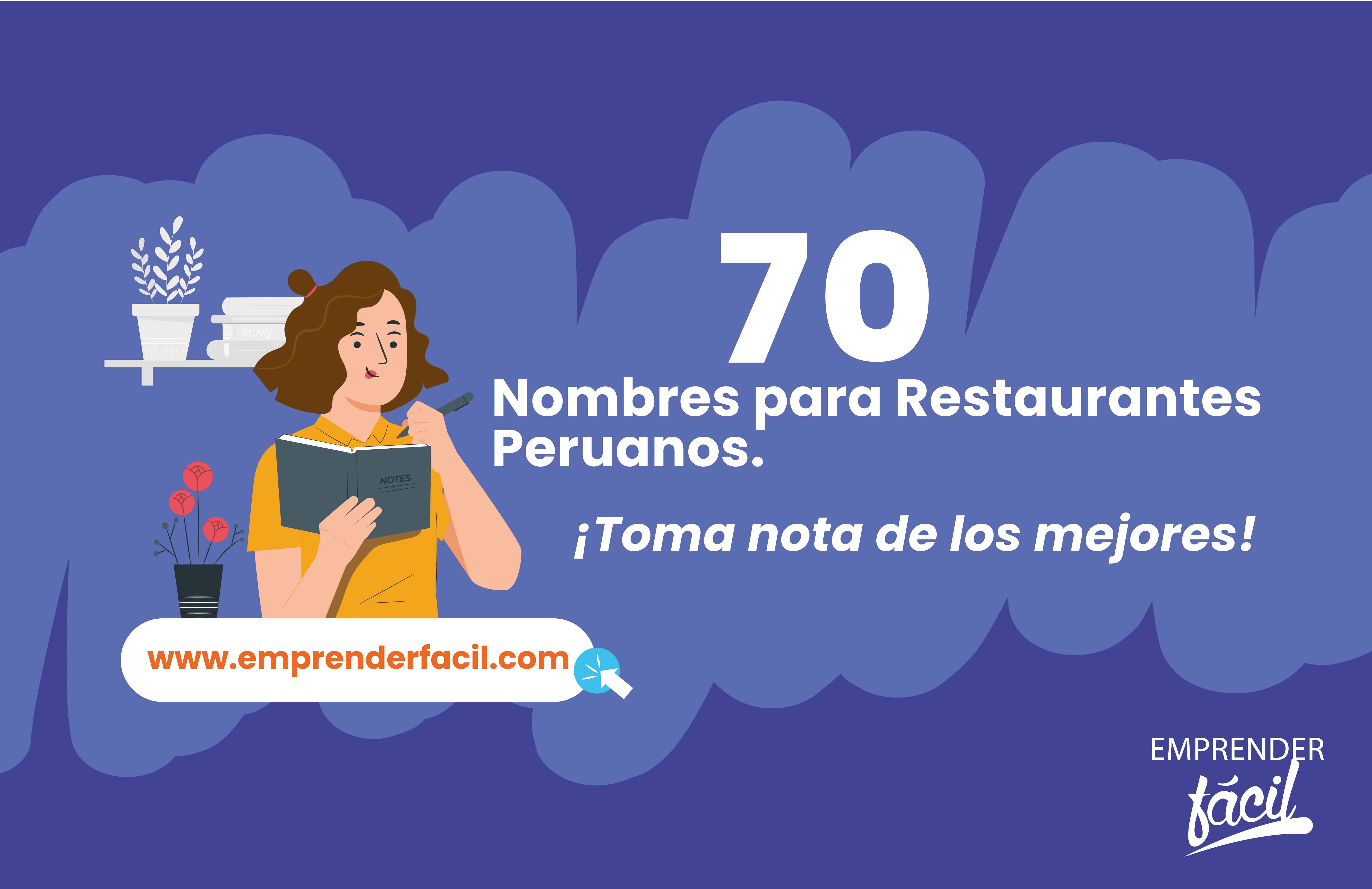 70 Nombres para Restaurantes Peruanos ¡Espectaculares!