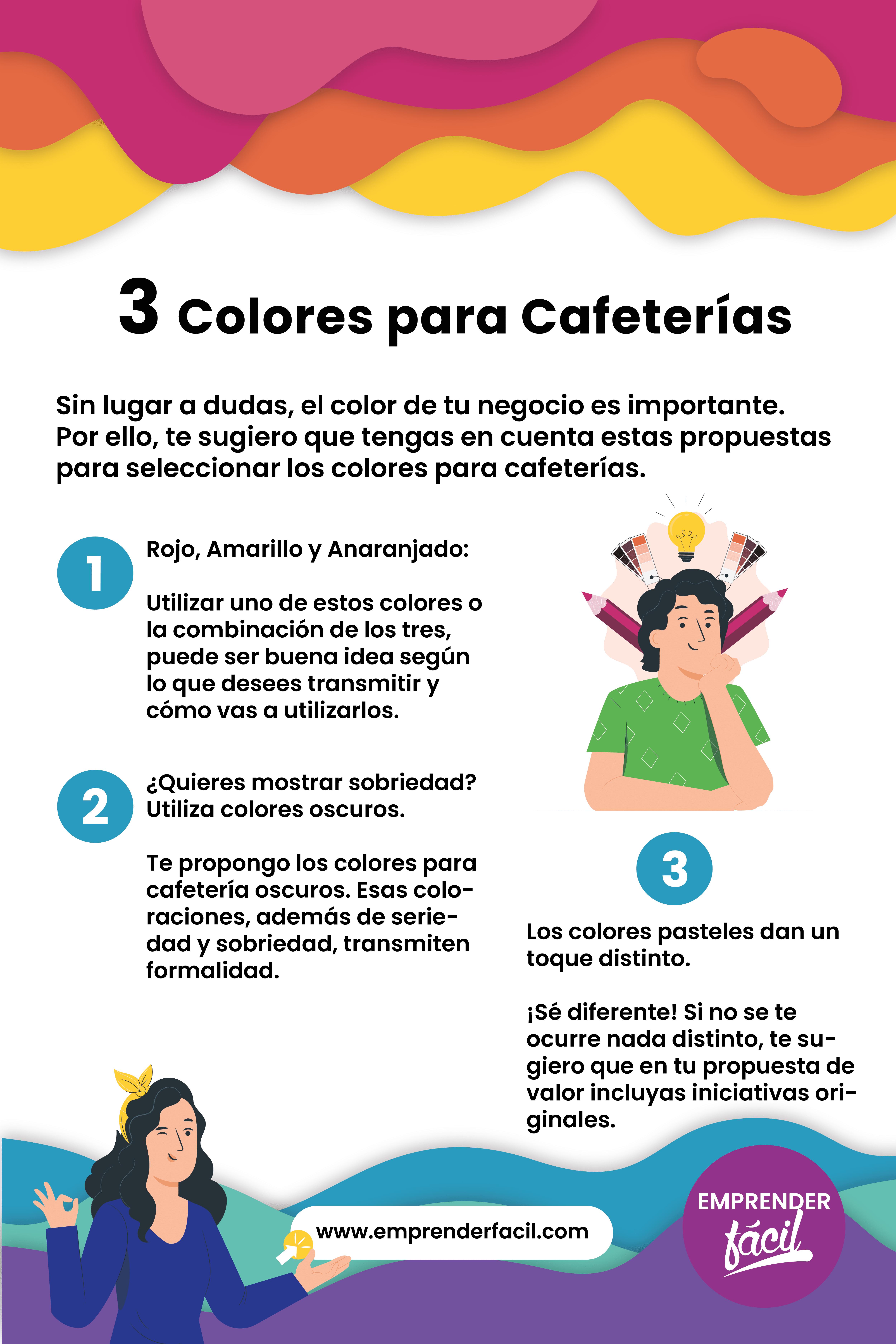Colores ideales para tu cafetería.