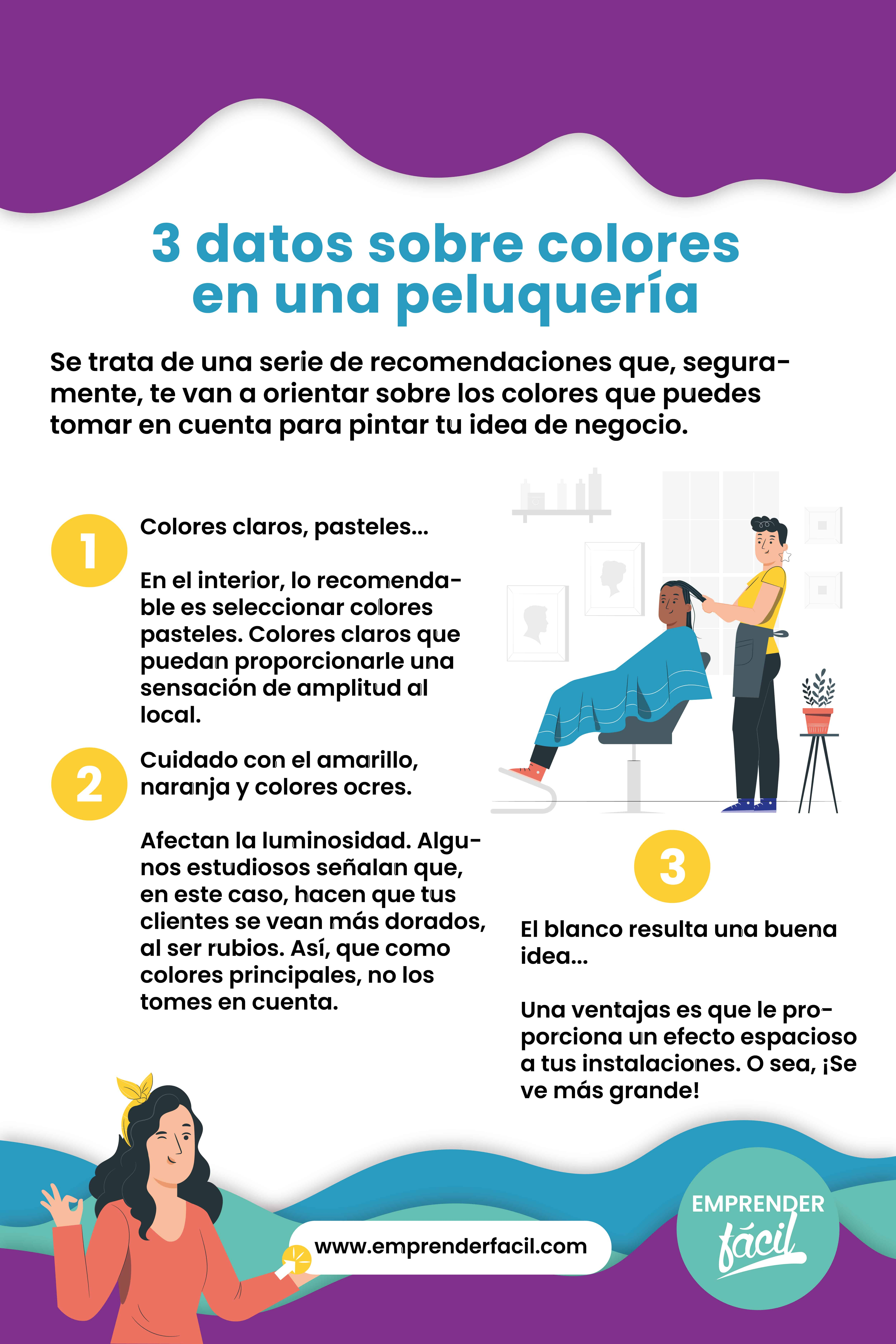 3 datos importantes sobre los colores para una peluquería.
