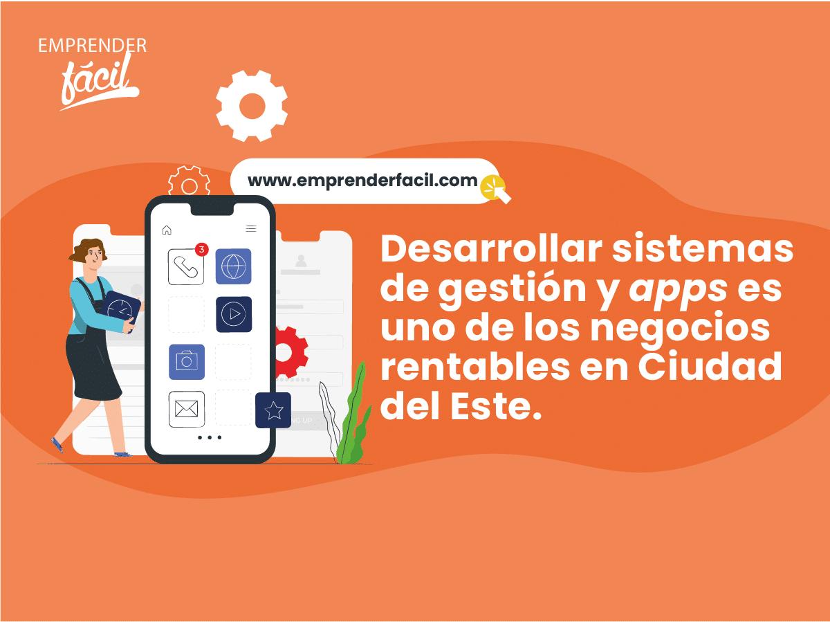 Desarrollar sistemas de gestión y apps es rentable en Ciudad del Este.