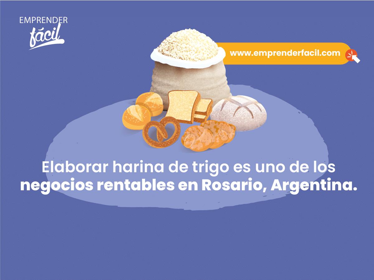 Elaborar harina de trigo es uno de los negocios rentables en Rosario, Argentina.