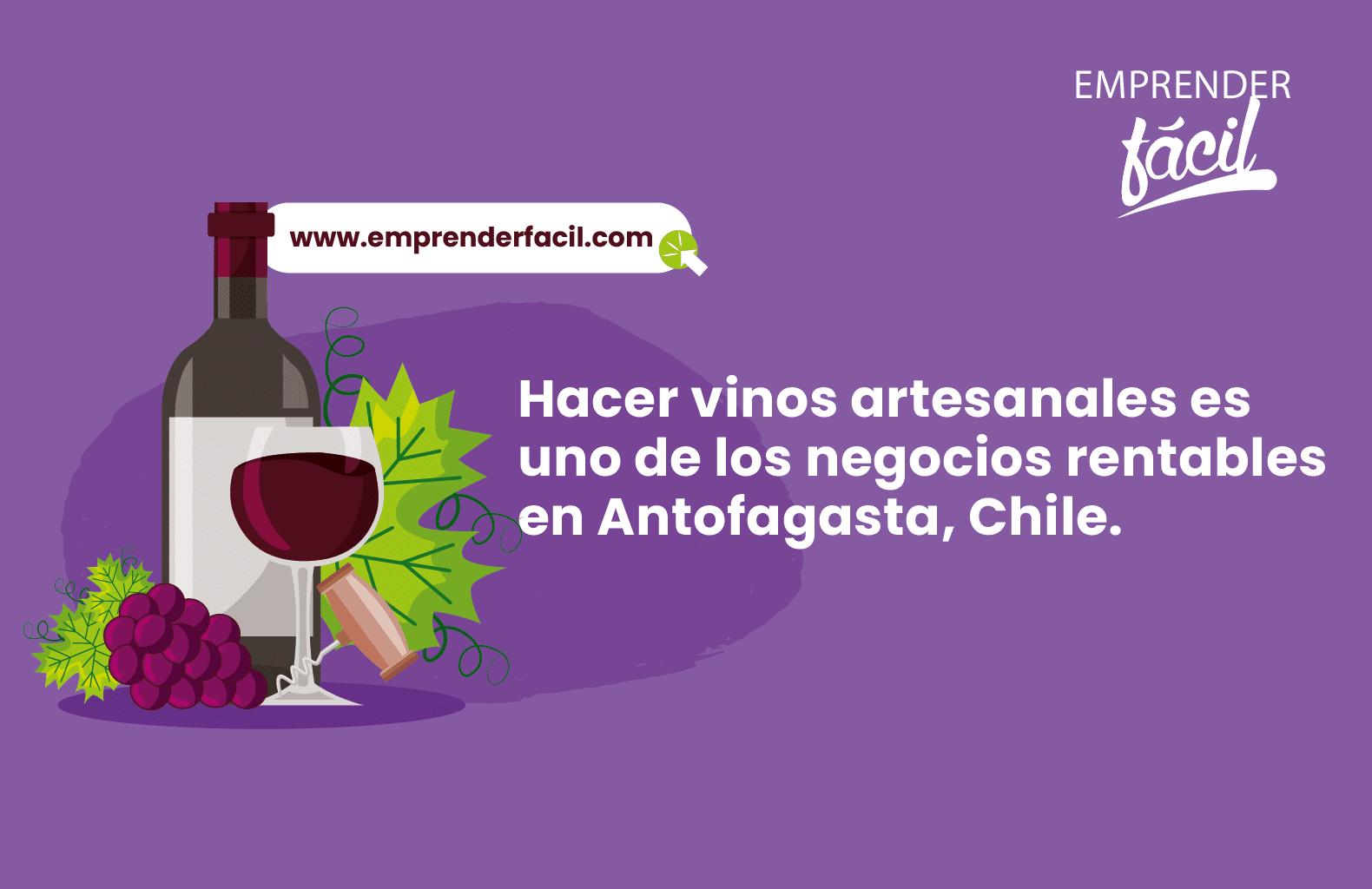 Hacer vinos artesanales es uno de los negocios rentables en Antofagasta, Chile.