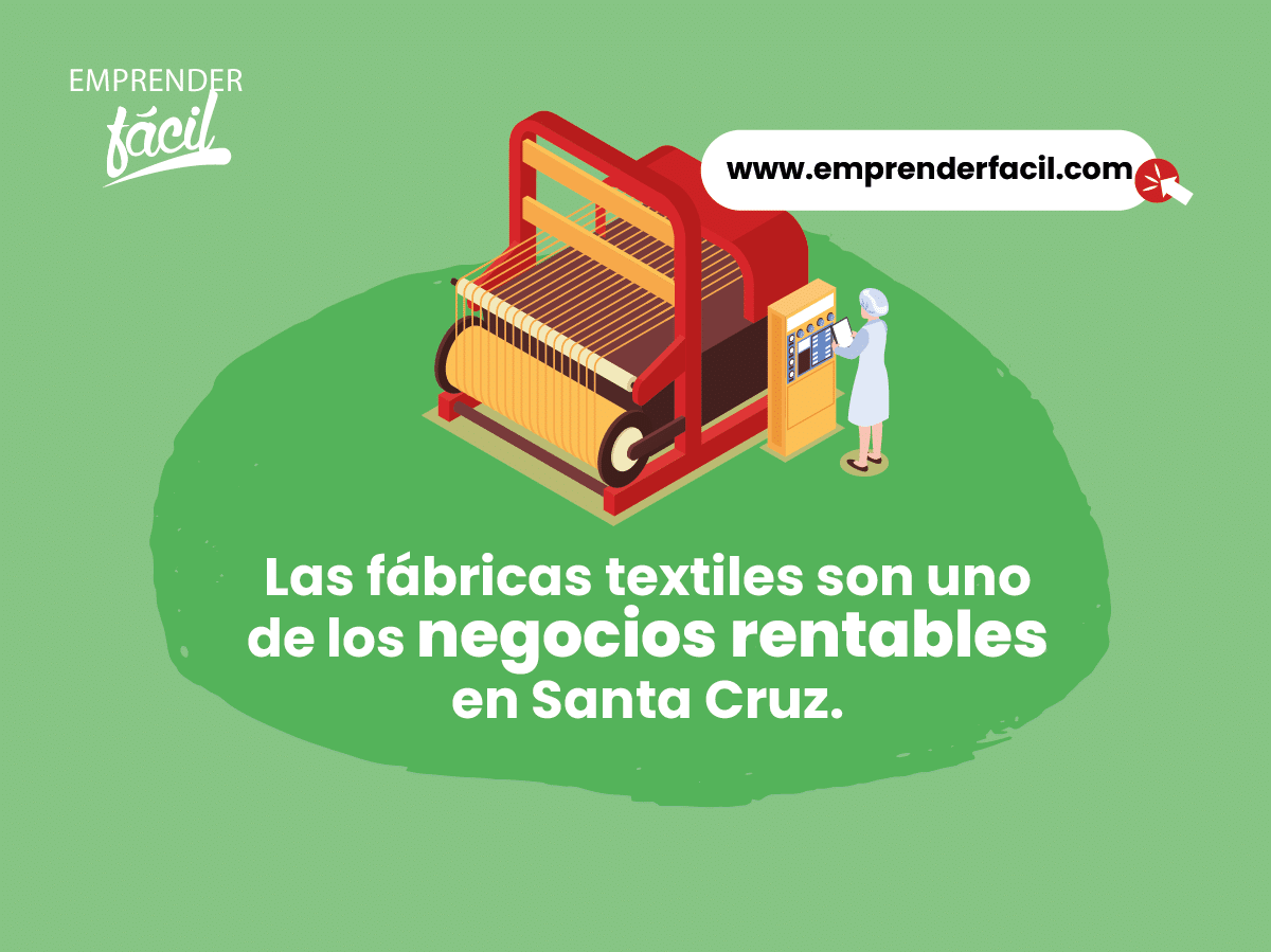 Las fábricas textiles son uno de los negocios rentables en Santa Cruz.