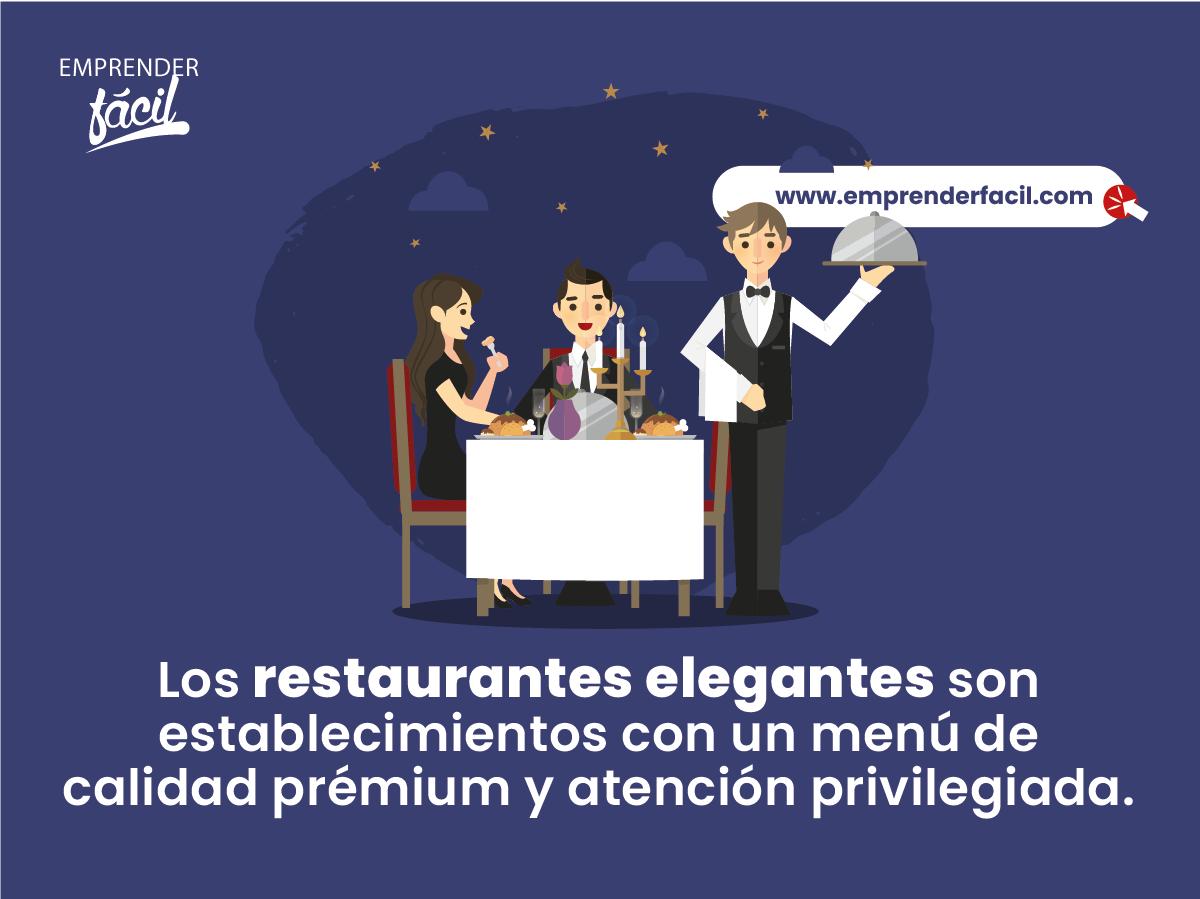 Establecimientos con un menú de calidad prémium y atención privilegiada.