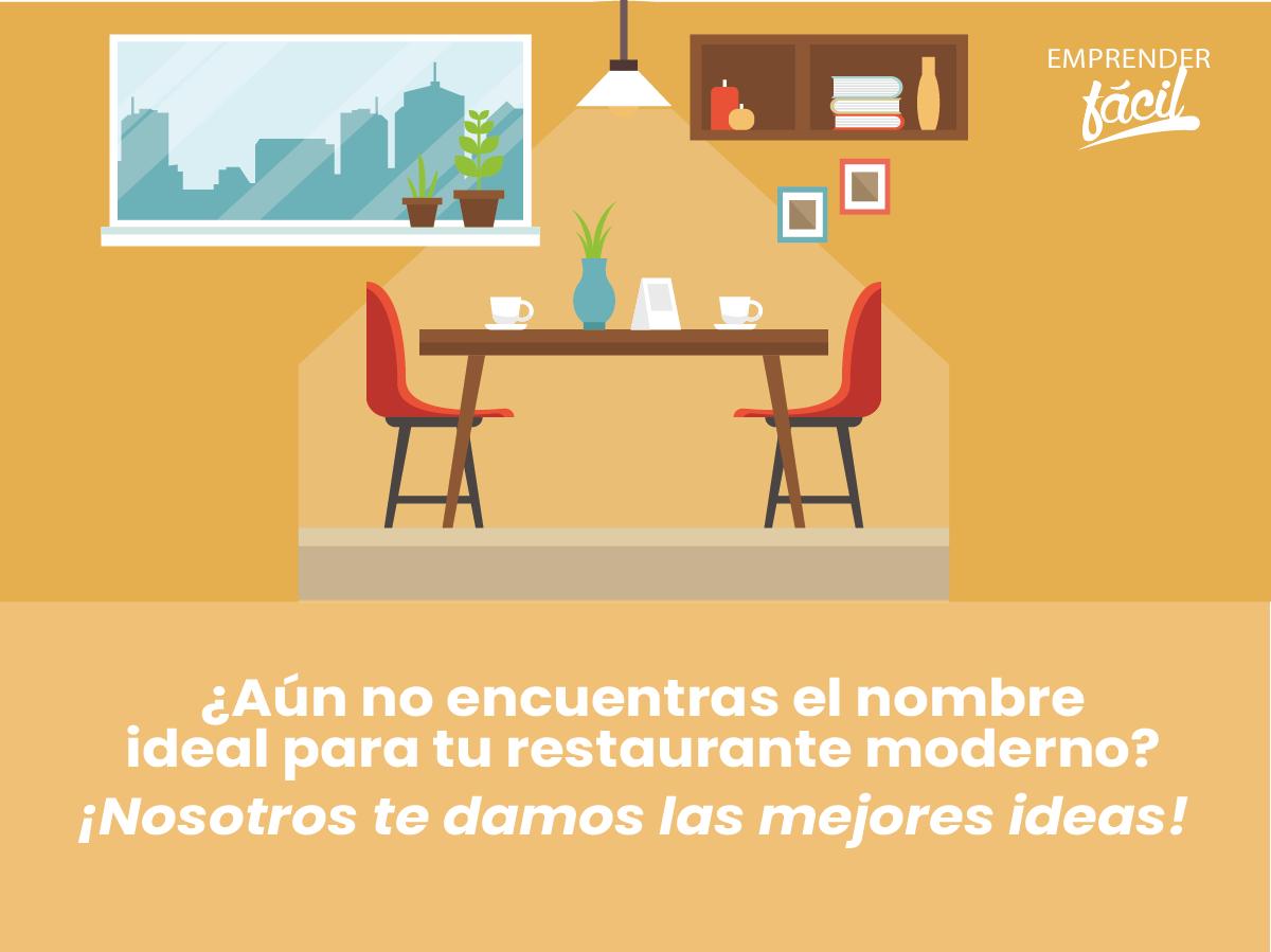 Nombres para Restaurantes Modernos ¡A la vanguardia!