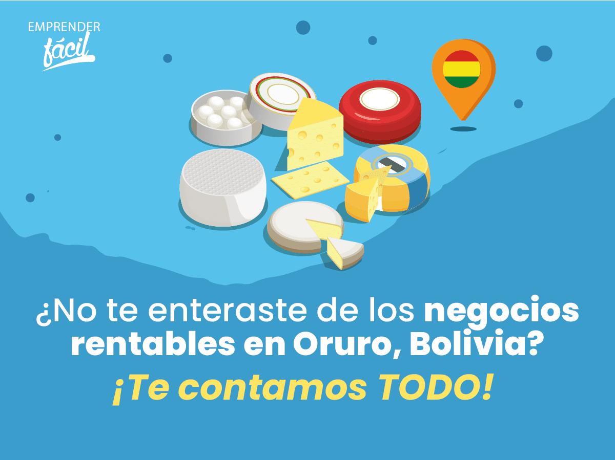 Negocios rentables en Oruro, Bolivia ¡Más que buenos!