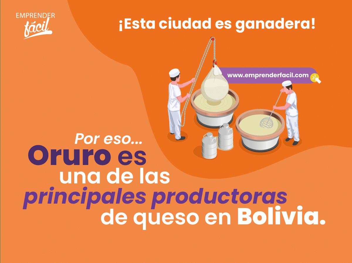 Oruro es una de las principales productoras de queso en Bolivia.