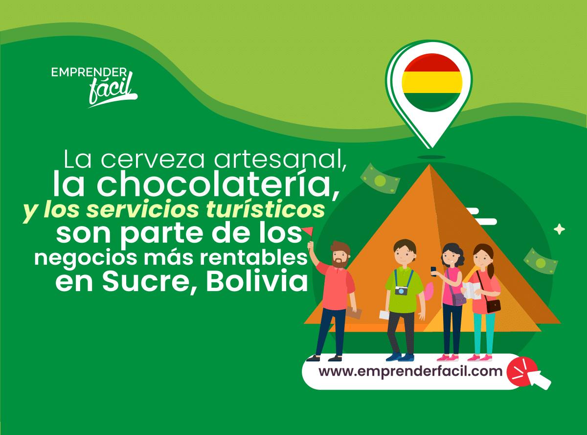 Las opciones de negocios rentables en Sucre, Bolivia son variadas y fáciles de emprender