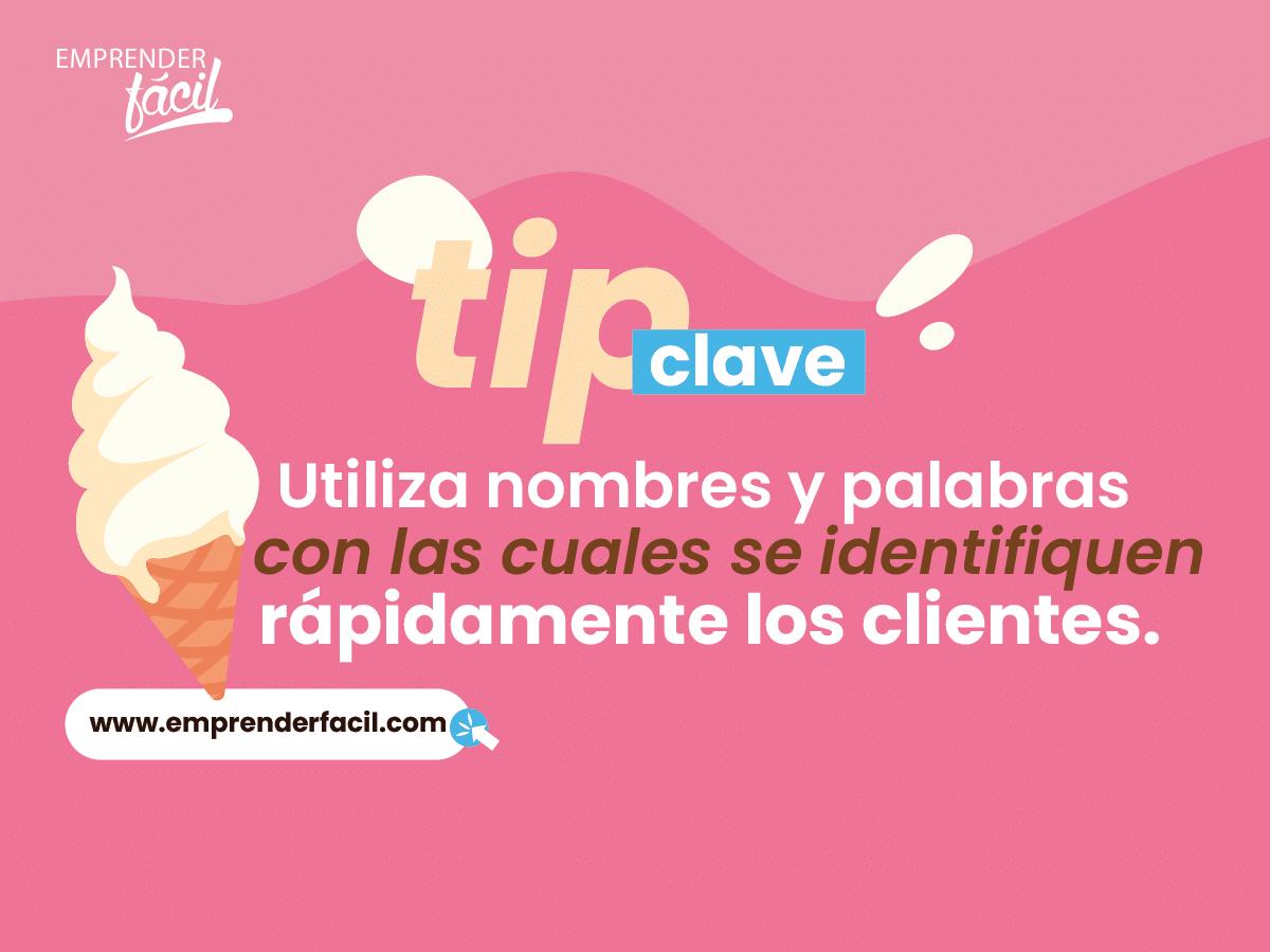 Tips para elegir buenos nombres para heladerías.