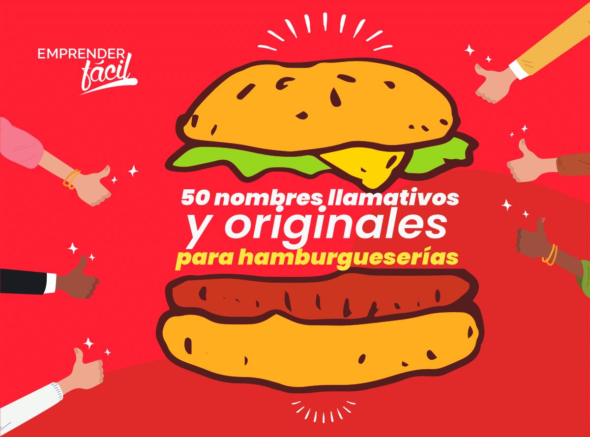 50 nombres llamativos y originales para hamburgueserías