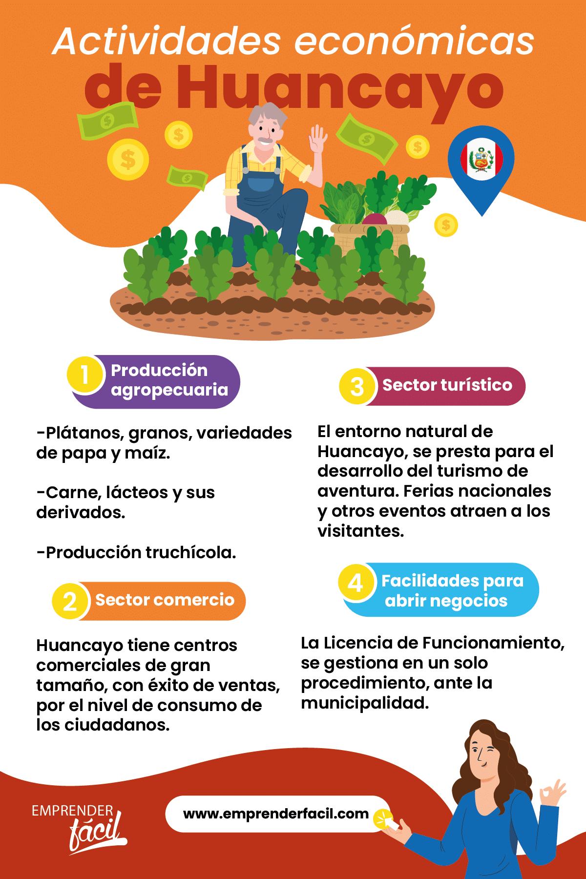 Actividades económicas de Huancayo, Perú.