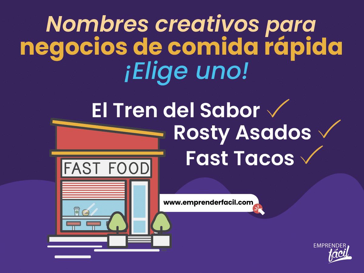 Nombres para negocios de comida rápida
