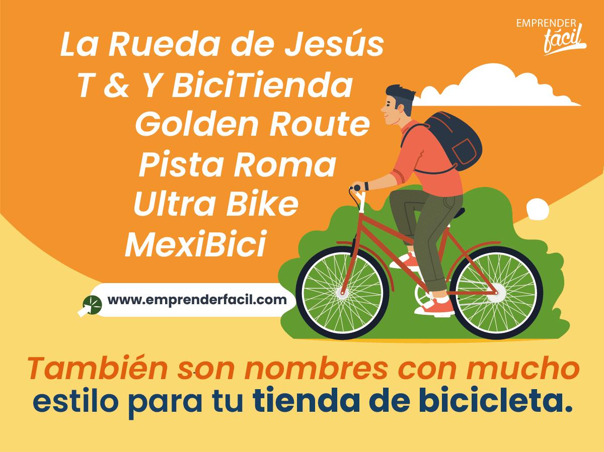 Ejemplos de nombres para tiendas de bicicleta.
