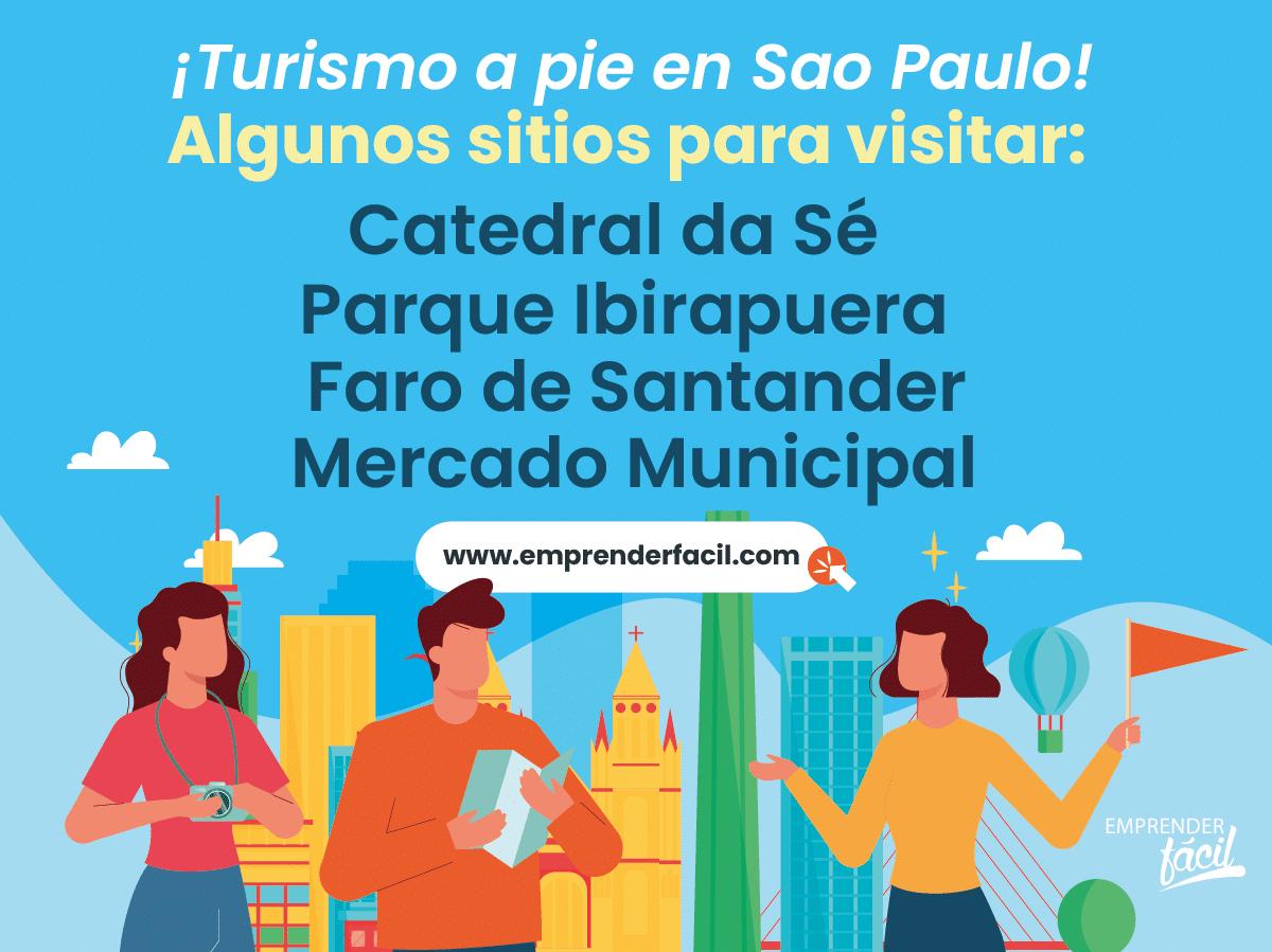 El turismo a pie es rentable en São Paulo.