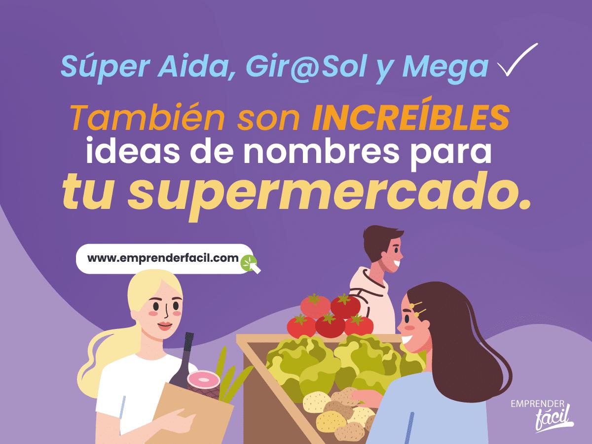 Ejemplos de nombres para supermercados.