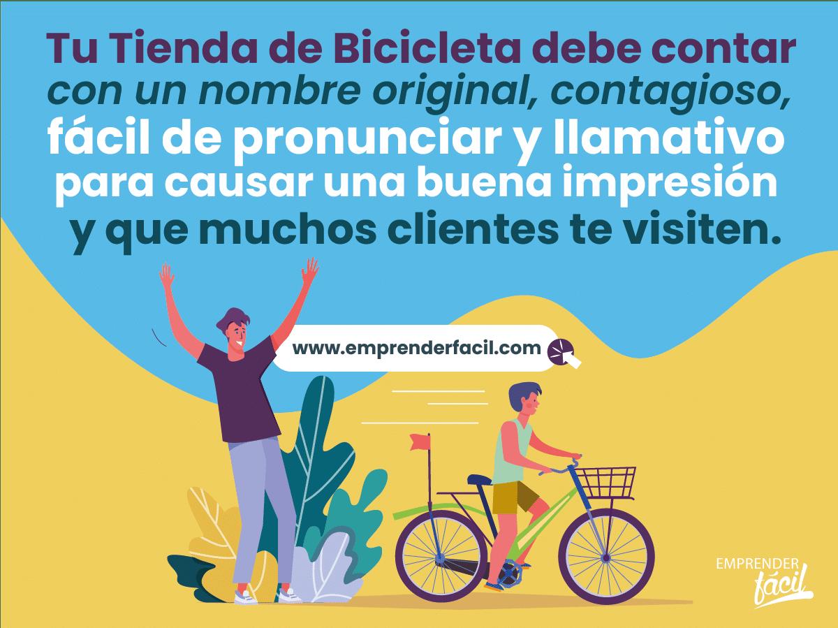 Tip para seleccionar nombres para tiendas de bicicletas.