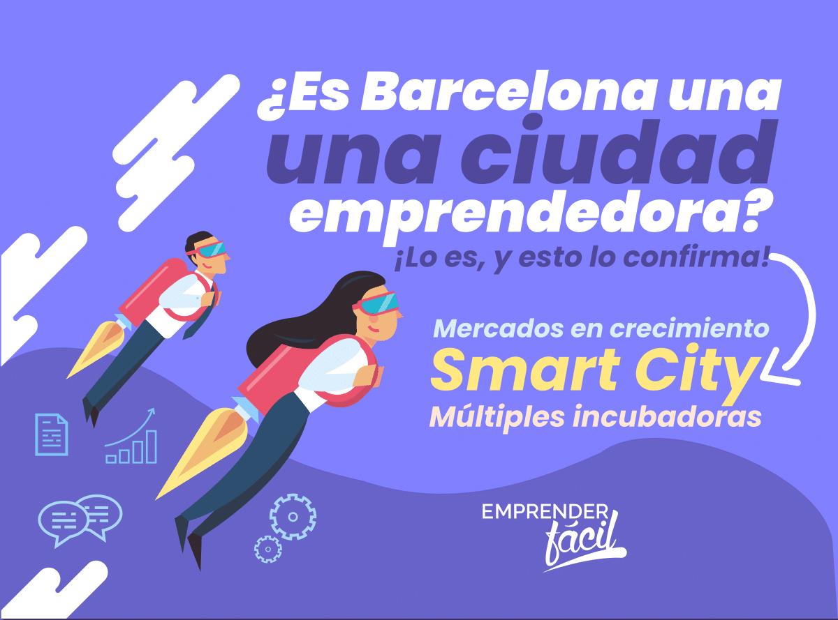 Es posible emprender negocios rentables en Barcelona, la ciudad inteligente de España
