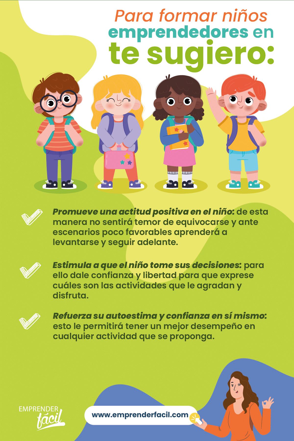 Sugerencias para formar niños emprendedores.