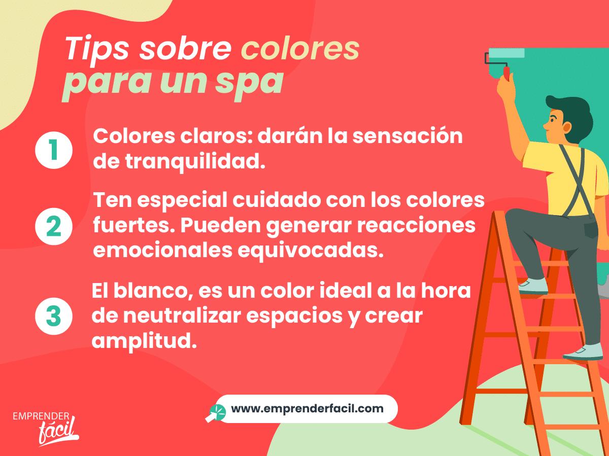 Tips sobre los colores para un spa.
