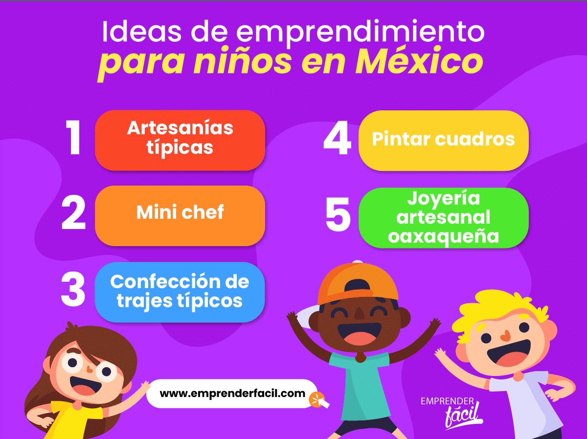 Niños emprendedores en México.