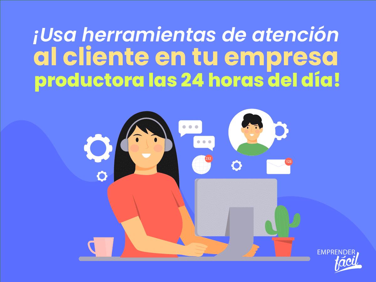 Herramientas de atención al cliente: empresas productoras.