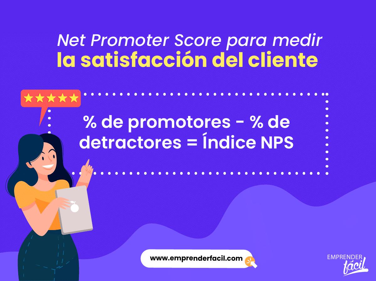 NPS para medir la satisfacción del cliente.